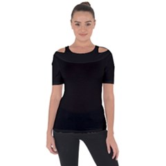 Rich Ebony Shoulder Cut Out Short Sleeve Top