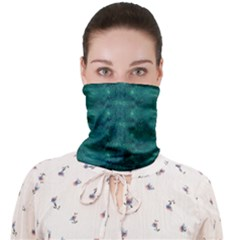 Teal Ikat Pattern Face Covering Bandana (adult)
