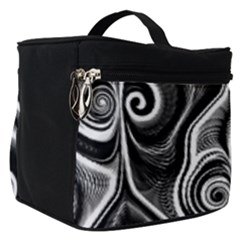Abstract Black And White Swirls Spirals Make Up Travel Bag (small)