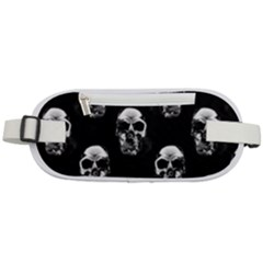 Black And White Skulls Rounded Waist Pouch