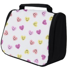 Cute Colorful Smiling Hearts Pattern Full Print Travel Pouch (big)