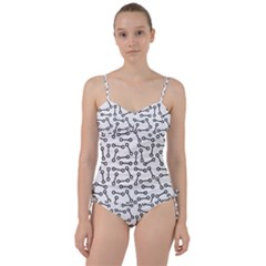 Abstract Black And White Minimalist Sweetheart Tankini Set by SpinnyChairDesigns