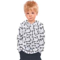 Abstract Black And White Minimalist Kids  Overhead Hoodie by SpinnyChairDesigns