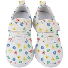 Cute Cartoon Germs Viruses Microbes Kids  Velcro Strap Shoes by SpinnyChairDesigns