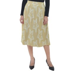 Gold Stars Pattern Classic Velour Midi Skirt