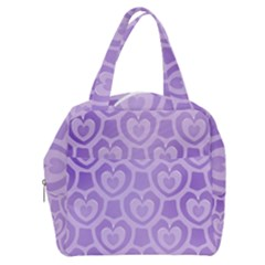 Purple Hearts Pattern Boxy Hand Bag by SpinnyChairDesigns