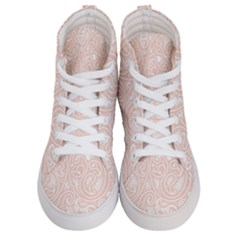 Barely There White Paisley Pattern Women s Hi-top Skate Sneakers