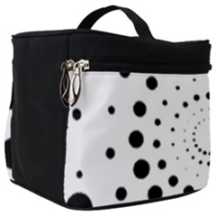 Abstract Black And White Polka Dots Make Up Travel Bag (big)
