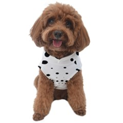 Abstract Black And White Polka Dots Dog Sweater by SpinnyChairDesigns