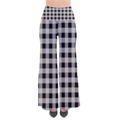 Black And White Buffalo Plaid So Vintage Palazzo Pants by SpinnyChairDesigns