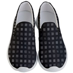 Abstract Black Checkered Pattern Men s Lightweight Slip Ons by SpinnyChairDesigns