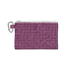 Plum Abstract Checks Pattern Canvas Cosmetic Bag (small)