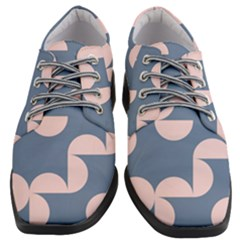 Pink And Blue Shapes Women Heeled Oxford Shoes by MooMoosMumma