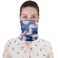 Pink And Blue Shapes Face Covering Bandana (adult)