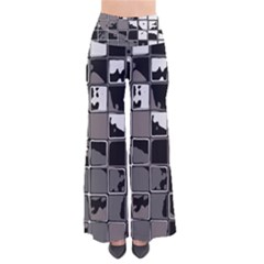 Black And White Checkered Grunge Pattern So Vintage Palazzo Pants