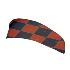 Red And Black Checkered Grunge  Stretchable Headband