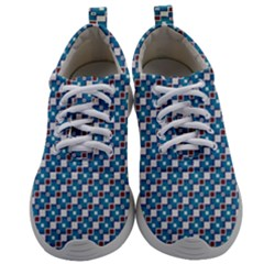 Country Blue Checks Pattern Mens Athletic Shoes