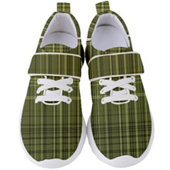 Green Madras Plaid Women s Velcro Strap Shoes by SpinnyChairDesigns