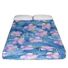 Watercolor Violets Fitted Sheet (king Size) by SpinnyChairDesigns