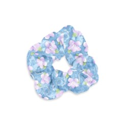 Watercolor Violets Velvet Scrunchie