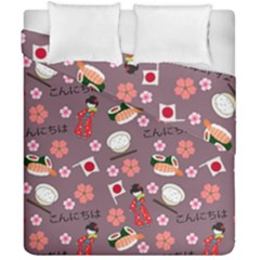 Japan Girls Duvet Cover Double Side (california King Size) by kiroiharu
