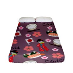 Japan Girls Fitted Sheet (full/ Double Size) by kiroiharu