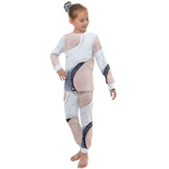 Pink And Blue Marble Kids  Long Sleeve Set