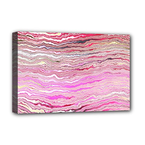Pink Abstract Stripes Deluxe Canvas 18  X 12  (stretched)