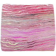Pink Abstract Stripes Seat Cushion