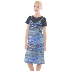 Blue Abstract Stripes Camis Fishtail Dress by SpinnyChairDesigns