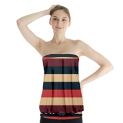Seventies Stripes Strapless Top by tmsartbazaar
