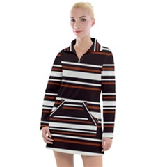 Classic Coffee Brown Women s Long Sleeve Casual Dress