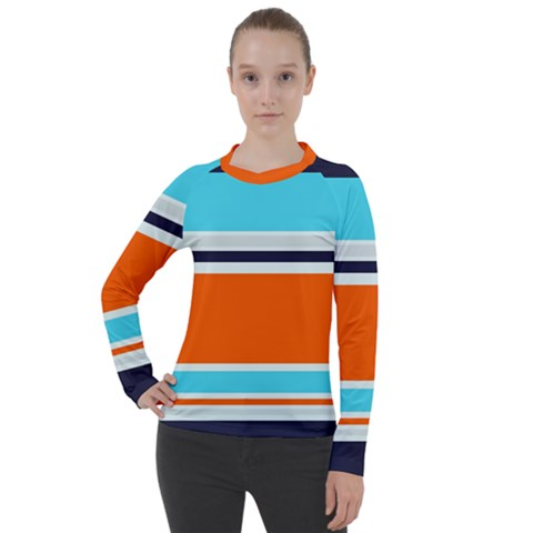 Tri Color Stripes Women s Pique Long Sleeve Tee by tmsartbazaar