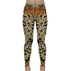 Free As A Flower And Frangipani In  Freedom Classic Yoga Leggings