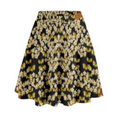 Free As A Flower And Frangipani In  Freedom High Waist Skirt