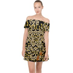 Free As A Flower And Frangipani In  Freedom Off Shoulder Chiffon Dress