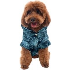 Teal Turquoise Abstract Art Dog Coat