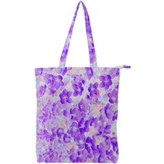 Purple Spring Flowers Double Zip Up Tote Bag