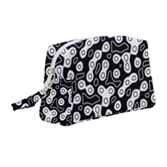 Black And White Abstract Art Wristlet Pouch Bag (medium)