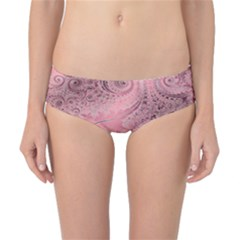 Orchid Pink And Blush Swirls Spirals Classic Bikini Bottoms by SpinnyChairDesigns