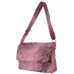 Orchid Pink And Blush Swirls Spirals Full Print Messenger Bag (l)