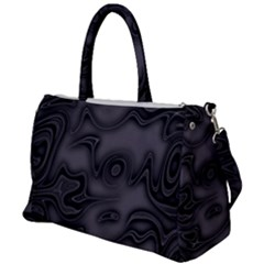 Dark Plum And Black Abstract Art Swirls Duffel Travel Bag