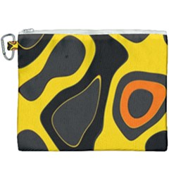 Yellow Black Orange Abstract Art Pattern Canvas Cosmetic Bag (xxxl)