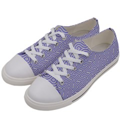 Royal Purple Grey And White Truchet Pattern Women s Low Top Canvas Sneakers by SpinnyChairDesigns