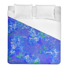 Bright Blue Paint Splatters Duvet Cover (full/ Double Size) by SpinnyChairDesigns