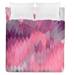 Pink Purple Diamond Pattern Duvet Cover Double Side (queen Size) by SpinnyChairDesigns