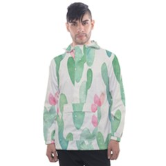 Photography-backdrops-for-baby-pictures-cactus-photo-studio-background-for-birthday-shower-xt-5654 Men s Front Pocket Pullover Windbreaker by Sobalvarro
