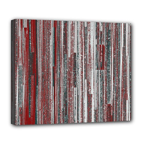 Abstract Grunge Stripes Red White Green Deluxe Canvas 24  X 20  (stretched)