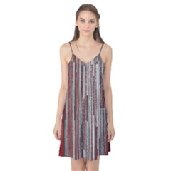 Abstract Grunge Stripes Red White Green Camis Nightgown