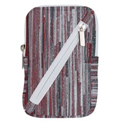 Abstract Grunge Stripes Red White Green Belt Pouch Bag (large)